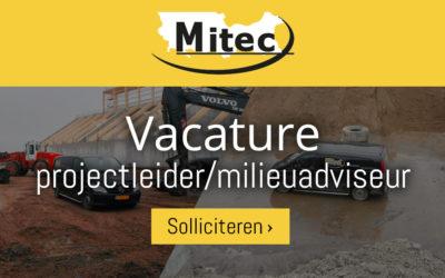Vacature: projectleider/milieuadviseur